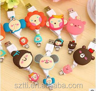 2014 fashion hot selling usb 2.0 cartoon cable