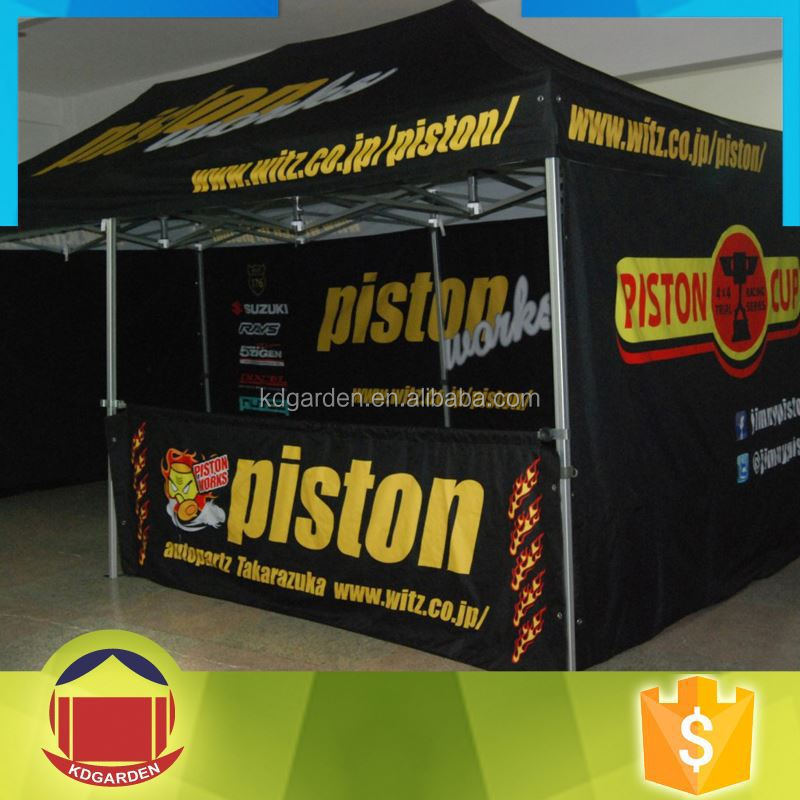 Custom 3x4.5m Steel Ez Up Tent With Logo Printed