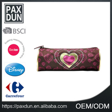 Lovely Style Design Heart Shaped Printed Pen Bag Canvas Cool Pencil Cases For Teenagers
