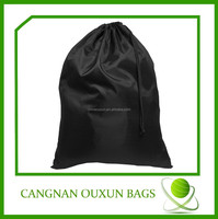 Hot sale custom black heavy duty plastic laundry bag