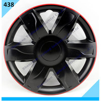 Black and Red Color Car Wheel Cover Twin Color Car Hub Cap .BiColor Center capABS /PP Plastic Full Set Car Wheel Cover .