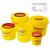 Puncture Resistant 6L Plastic Sharps Container for Clinic Use