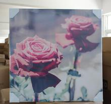 Polyester 100% 105g sample picture of canvas painting for art reproduction