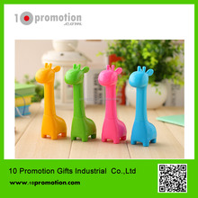 Plastic carton animal creative stationery ballpoint pen/colorful giraffe for children study