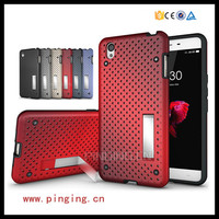 Cool & Fashion heat radiation net mesh kickstand case for Oneplus x hard back cover
