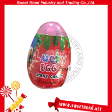 Egg Shaped Sweet Fruit Sour Spray Candy