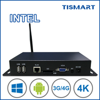 Digital signage media player intel advertising player 4K decoder player box