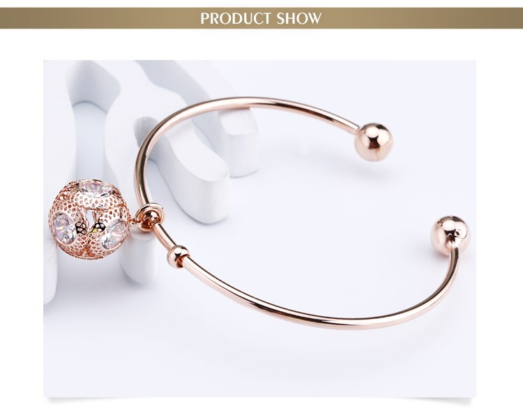 Wholesale OUXI Jewelry 18K Rose Gold Plated Copper Cuff Bangle 50071-201000