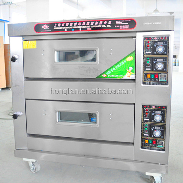 portable machine 2 layers 4 trays gas pizza oven