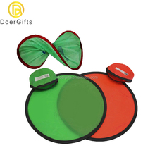 Factory Wholesale Customization Logo Printed Foldable Nylon Fabric Ring Frisbee Blank
