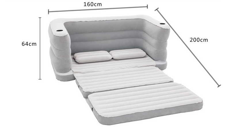 Bestway air filled Flocking Inflatable Outdoor Airbed Sectiona couch Sofa furniture