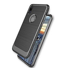 new products wire drawing TPU silicon bumper Back cover phone case for iphone X case