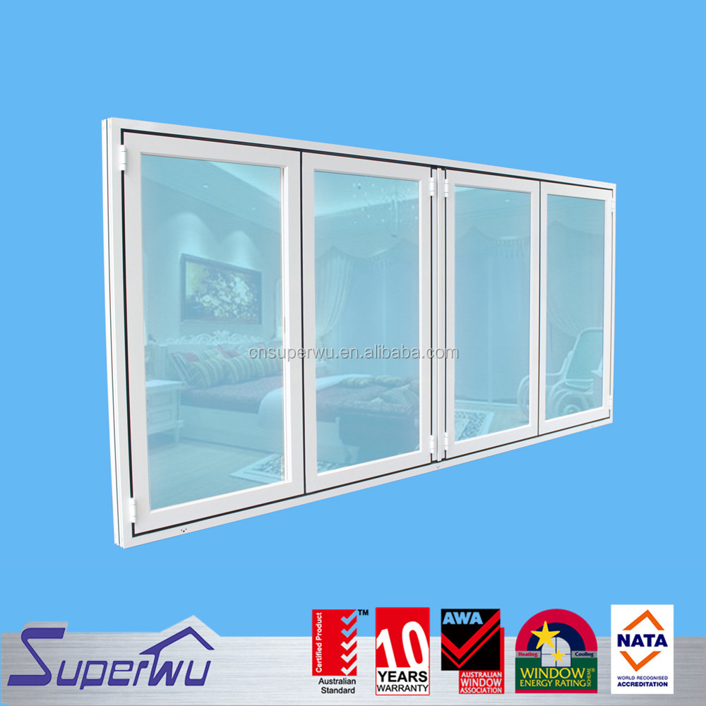 Australian series aluminum glass foding window for house