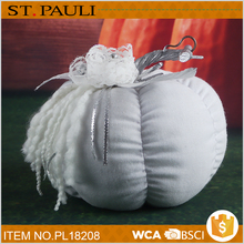 indoor table top white cotton pumpkin thanksgiving home decor items wholesale price from china