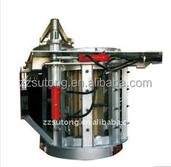 200kg steel melting induction furnace with stainless steel shell