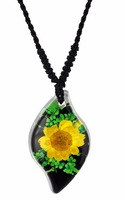 Beautiful Real flower jewelry pendant necklace for girl