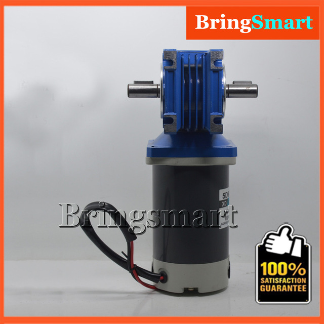 5D60-RV40 12 Volt <strong>DC</strong> Single/Double Shaft Motor 24V Reversible Motor Self-locking Worm Gear Motor