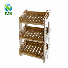 YM0J29 Retail Wooden Shelf with 3 Reclaimed Chitting Trays