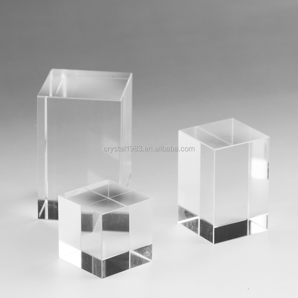 Hot Selling Shining 6*6*10 mm K9 AAA Blank Crystal Cubes For Engraving