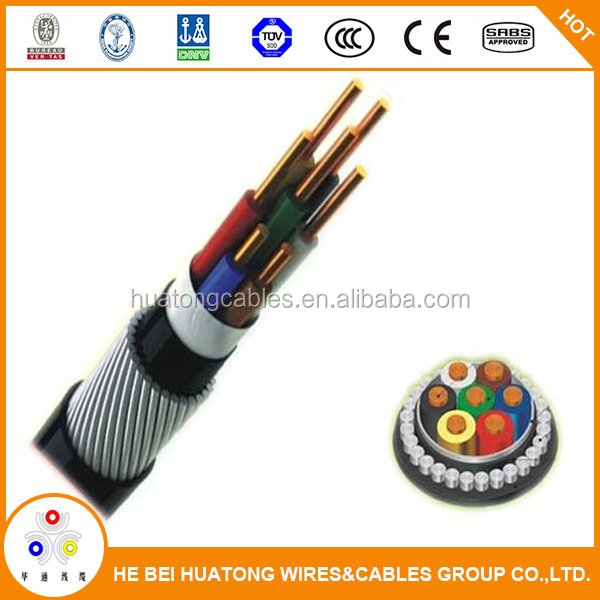 Plastic/rubber insulated and sheathed control cable