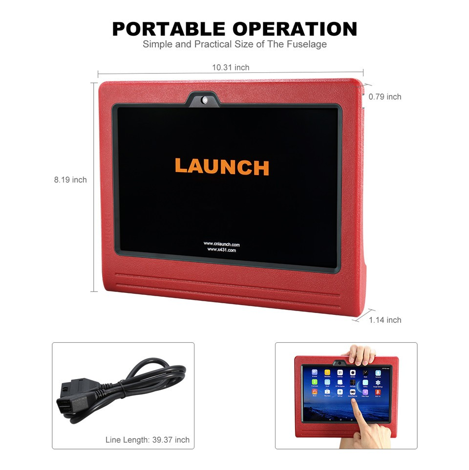 "10"" Tablet LAUNCH ECU Programmer X431 PRO3 OBD2 Scanpad Bluetooth/WIFI Car Diagnostic Scanner X-431 Pro3 2 Years Free Update"