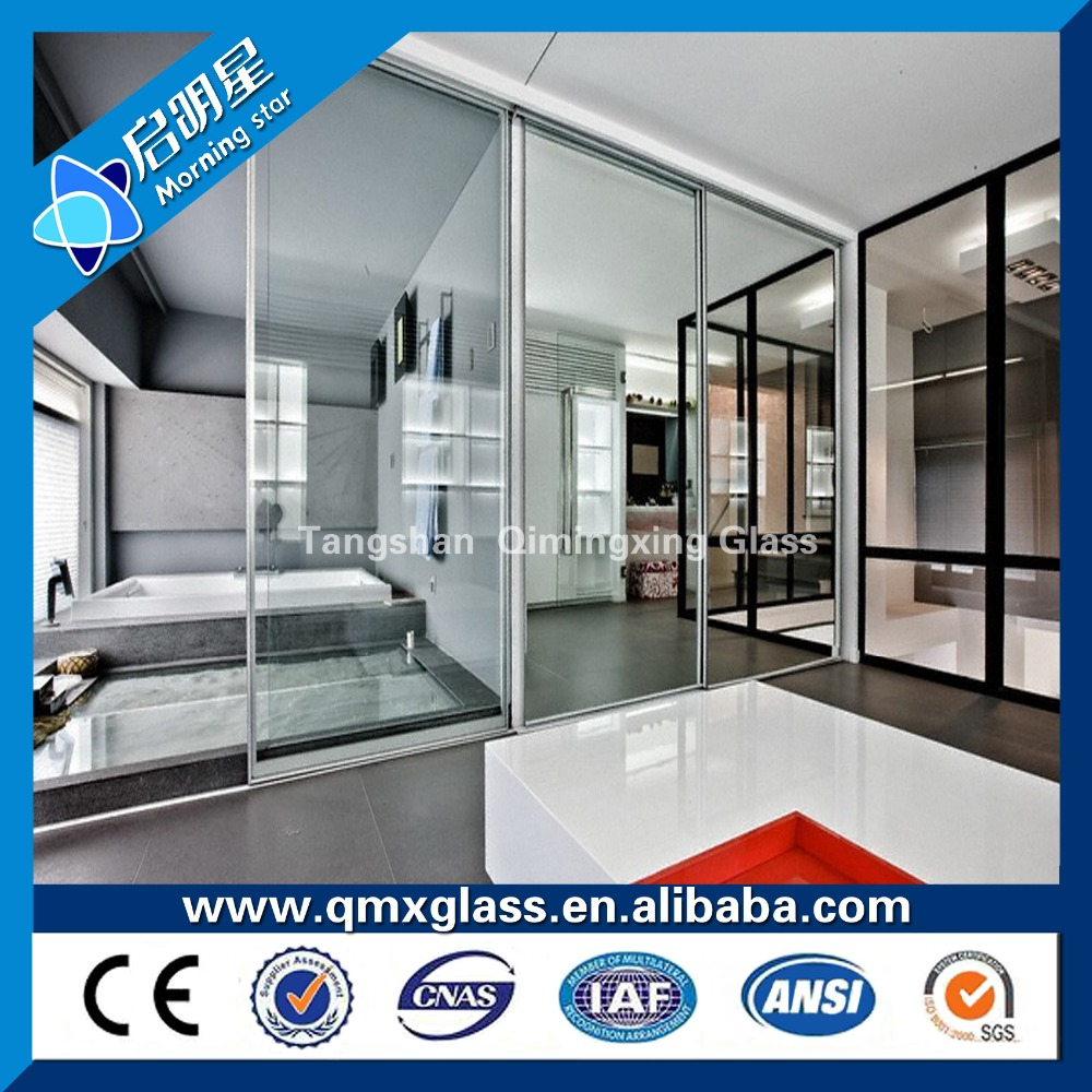 4-19mm Tempered shower glass door and frameless and sliding glass shower door