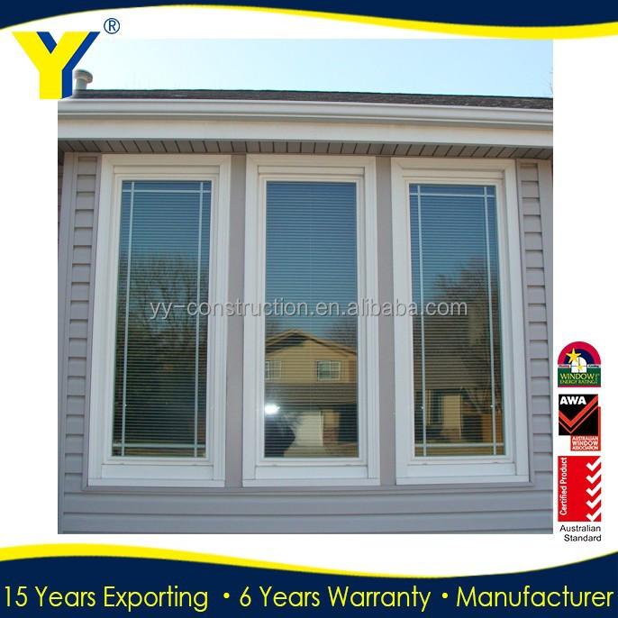 Aluminum hinged windows with roto blinds yy construction for Cheap house windows for sale