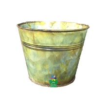 Hot selling 2017 shabby flower pots galvanized metal bucket painted flower pots planter