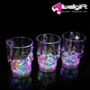 Glass Colorful LED Acrylic Flashing Luminous Light-Up Octagon Cup For Beer Bar