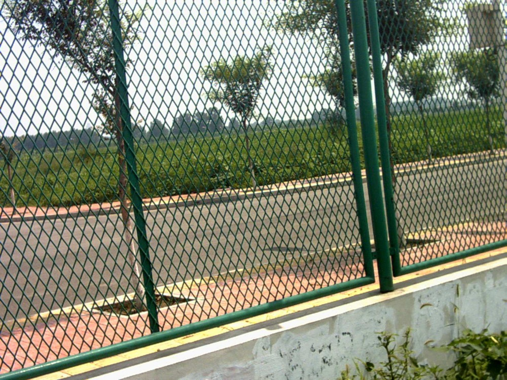 Galvanized expanded wire mesh fence/highway expanded metal fence netting