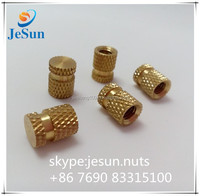 High precision Injection molded brass nuts,brass bolt insert for plastic