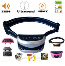 No Bark Collar 2018 Upgrade Version] Rechargeable Dog Barking Control Training Collar Beep / ultrasonic / Safe Shock