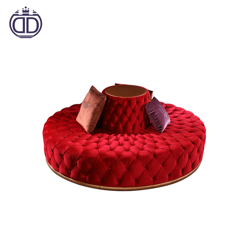 New product hotel circular modern lobby sofa design
