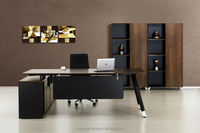 High End &Quality Executive Desk with Wood Top &Steel Frame