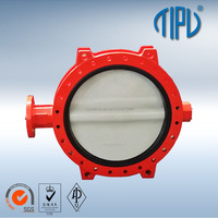 Pneumatic Center Line Wafer A216 WCB Carbon Steel Butterfly Valve