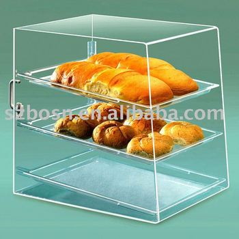 Acrylic Bakery Display,Perspex Bread Box,Plexiglass Cake Stand