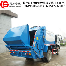 Dongfeng 4x2 hydraulic 6cbm small garbage truck used garbage compactor truck