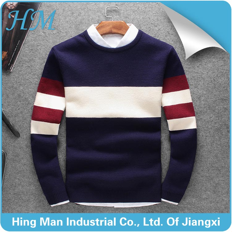 Korean style men's round neck thickened sweater