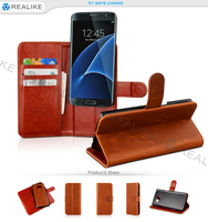 latest design 2 in 1 detachable strong magnetic stand function free sample leather phone case for galaxy s7 / s7 edge