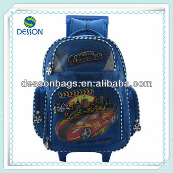 Speed Racing car Schoolbag with wheels