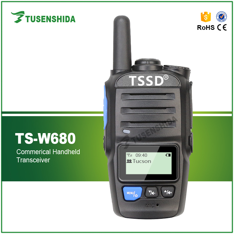 GSM/2G/3G Network GPS Digital walkie talkie TSSD TS-W680 sim card cell phone