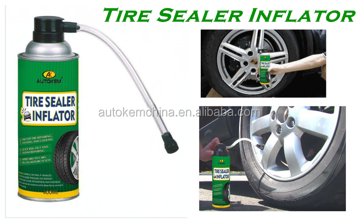 tire sealer inflator spray tyre repair spray, tire sealant and inflator 400ML/500ML free sample