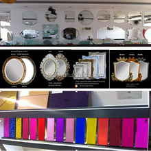 wall mirror manufacturer of low price good design 1- 6 mm large round decoritive silver wall mirror