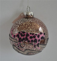 Creative glass personalized christmas ball ornaments as colored glass pieces for crafts from chinese imports wholesale