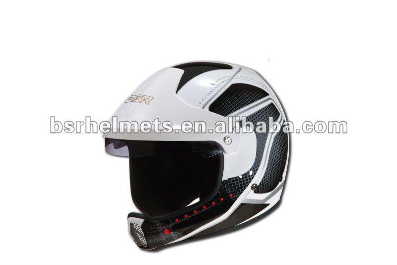 Car rally helmet with graphic SNELL SAH2010 standard