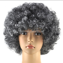 Fancy dress afro wig mens/ladies costume afro kinky wigs funky disco clown style cheap make afro wig with latest design W4054
