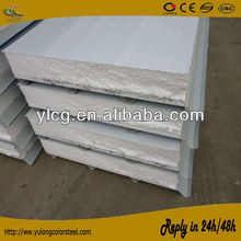 950mm white metal sheet coated insulated eps wall cold room panel