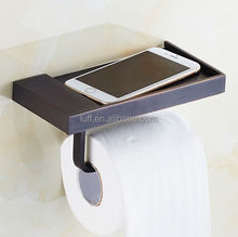 new Bathroom Accessories Toilet Roll Paper Holder Oil Rubbed Bronze metal bathroom phone holder Wall Mounted No Cover Space
