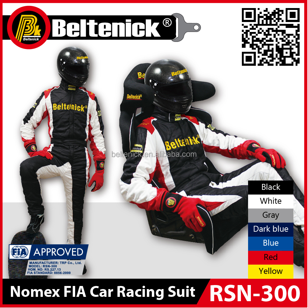 Beltenick Advanced light weight Nomex FIA Car Racing Suit RSN-300