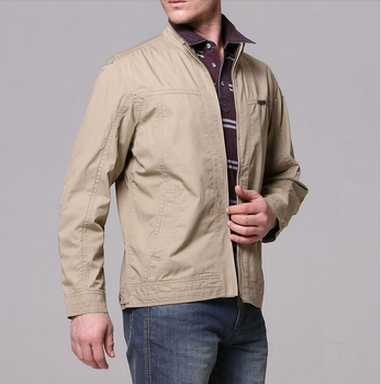 40Gentlemen's long sleeve BUTTON thickens maintains warmth jacket for WINTER season,fom Guangzhou
